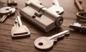 Schlüssel mit Schlosszylinder
